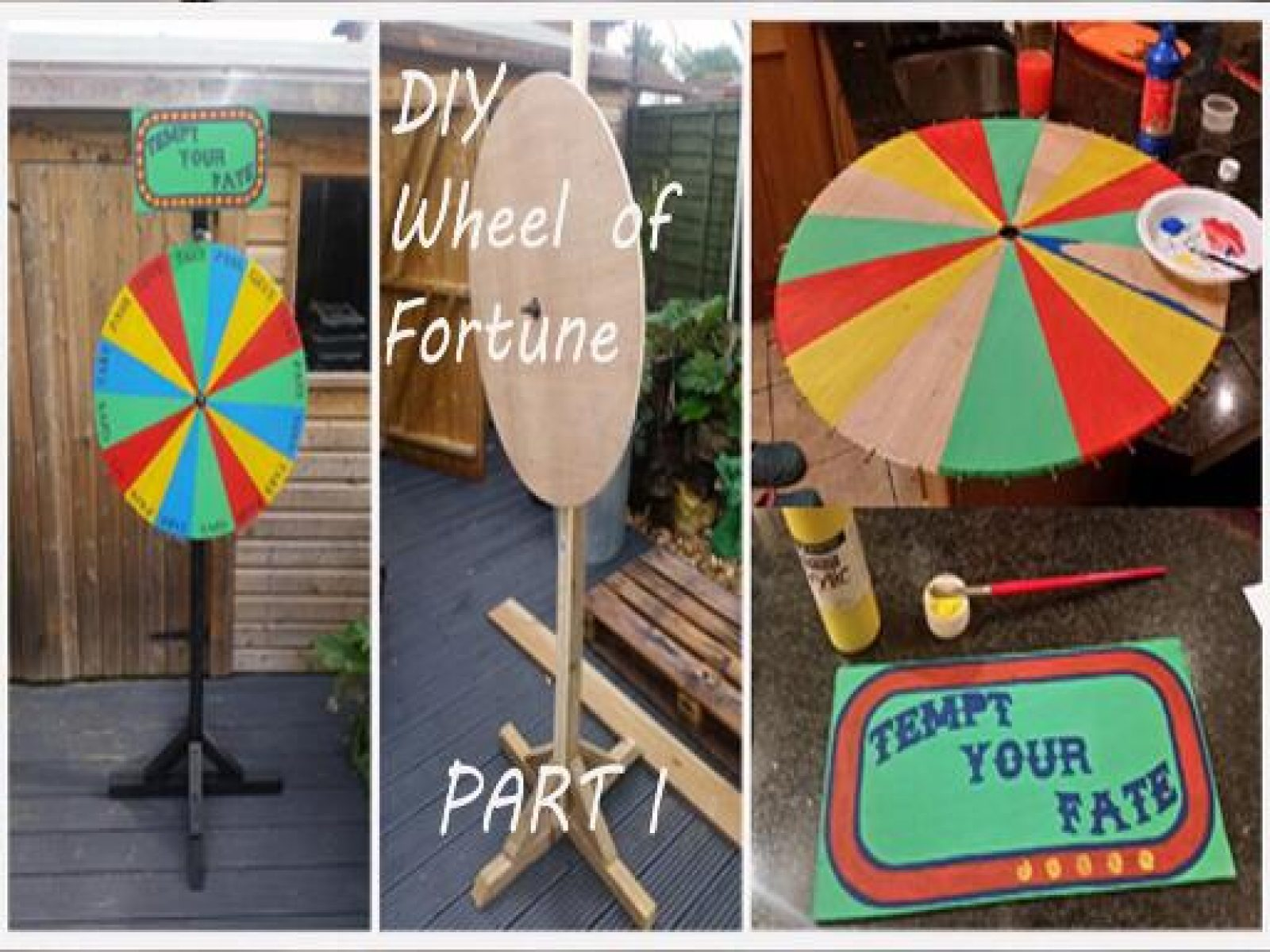 How to Make an Halloween Wheel of Fortune Drinking Game Prop PART I