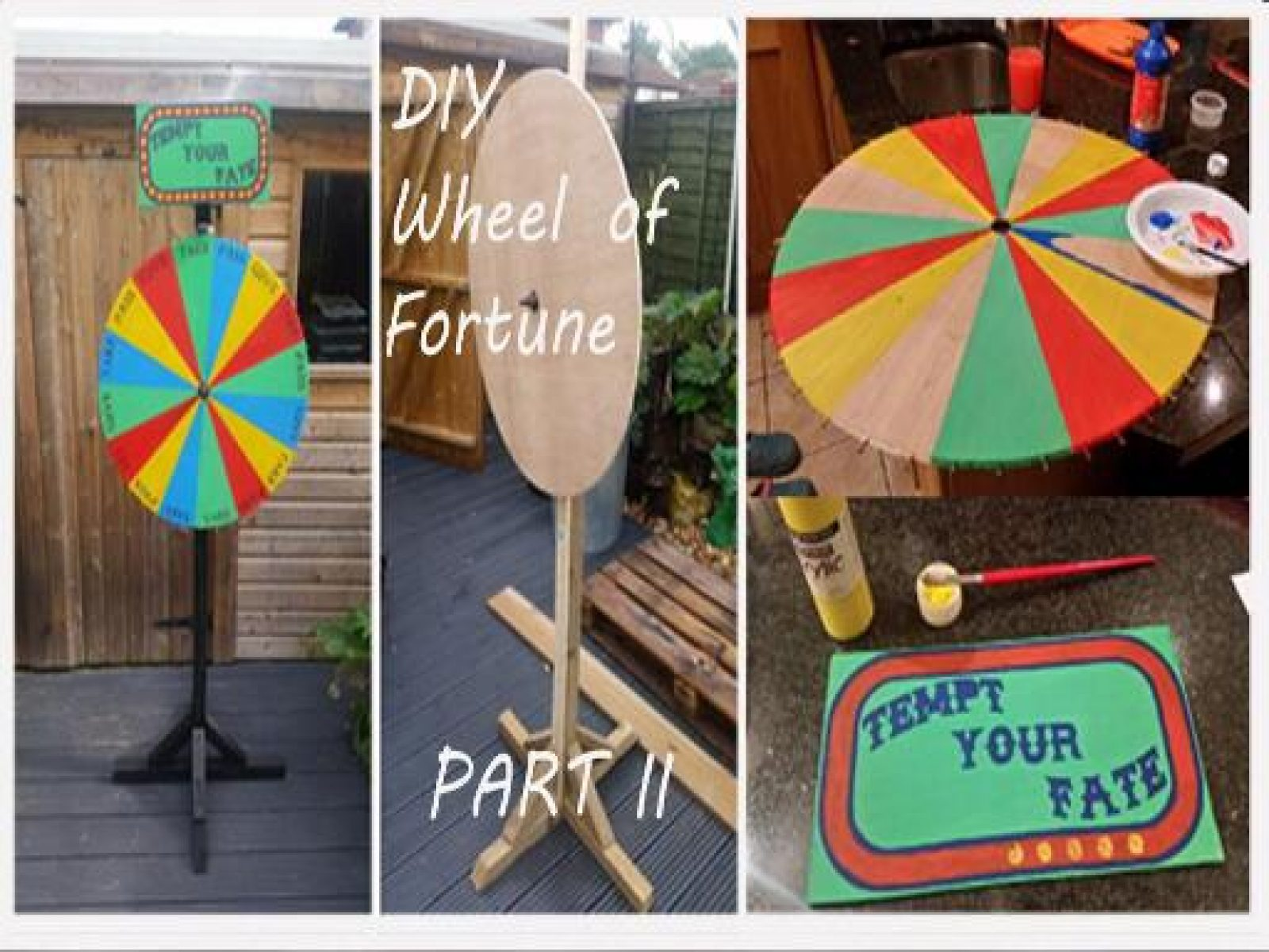 How to Make an Halloween Wheel of Fortune Drinking Game Prop PART II