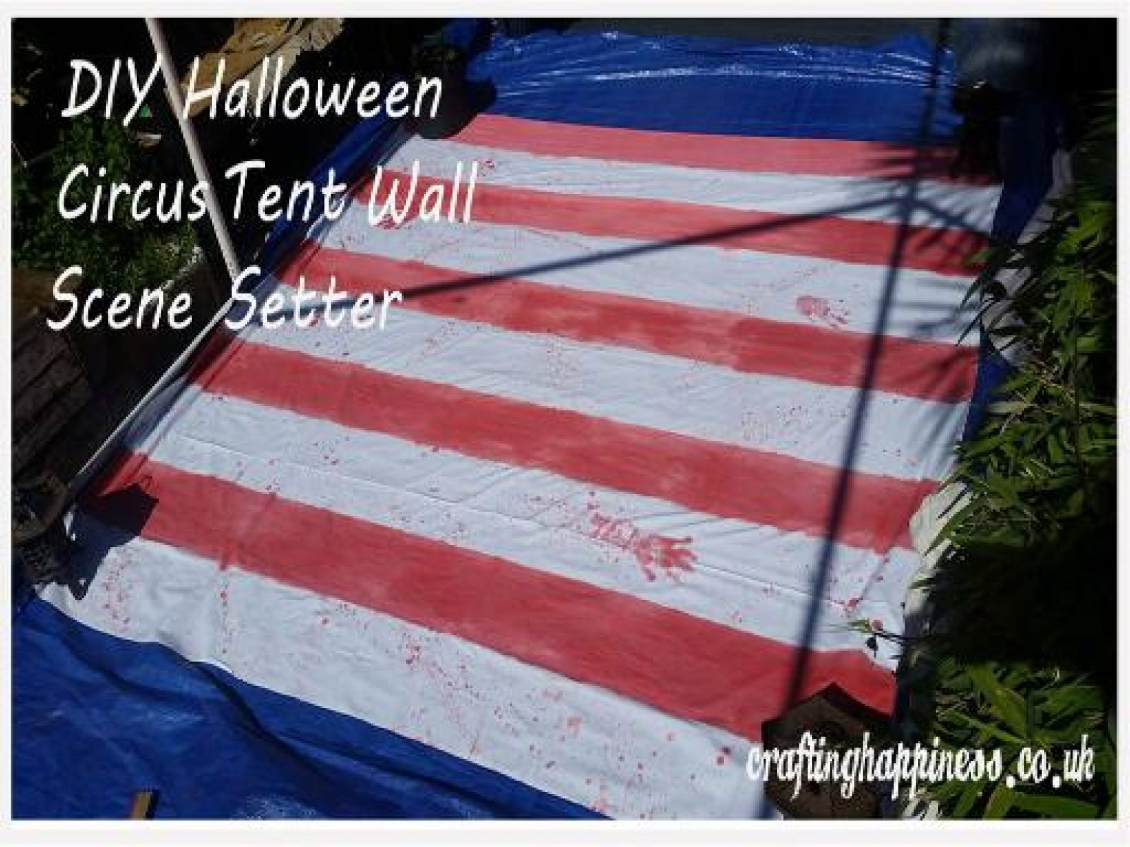 How to Make a Halloween Circus Tent Wall Scene Setter