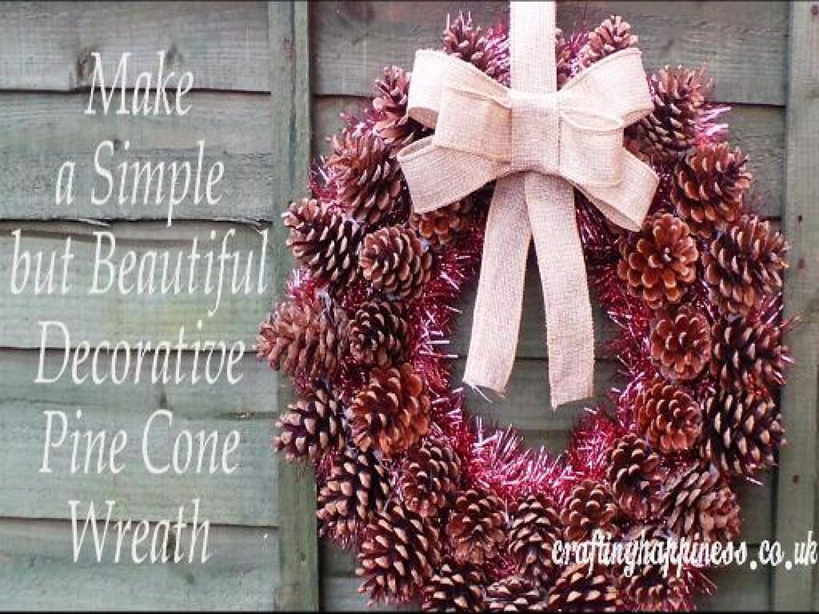 How to Make a Simple but Beautiful Decorative Pine Cone Wreath