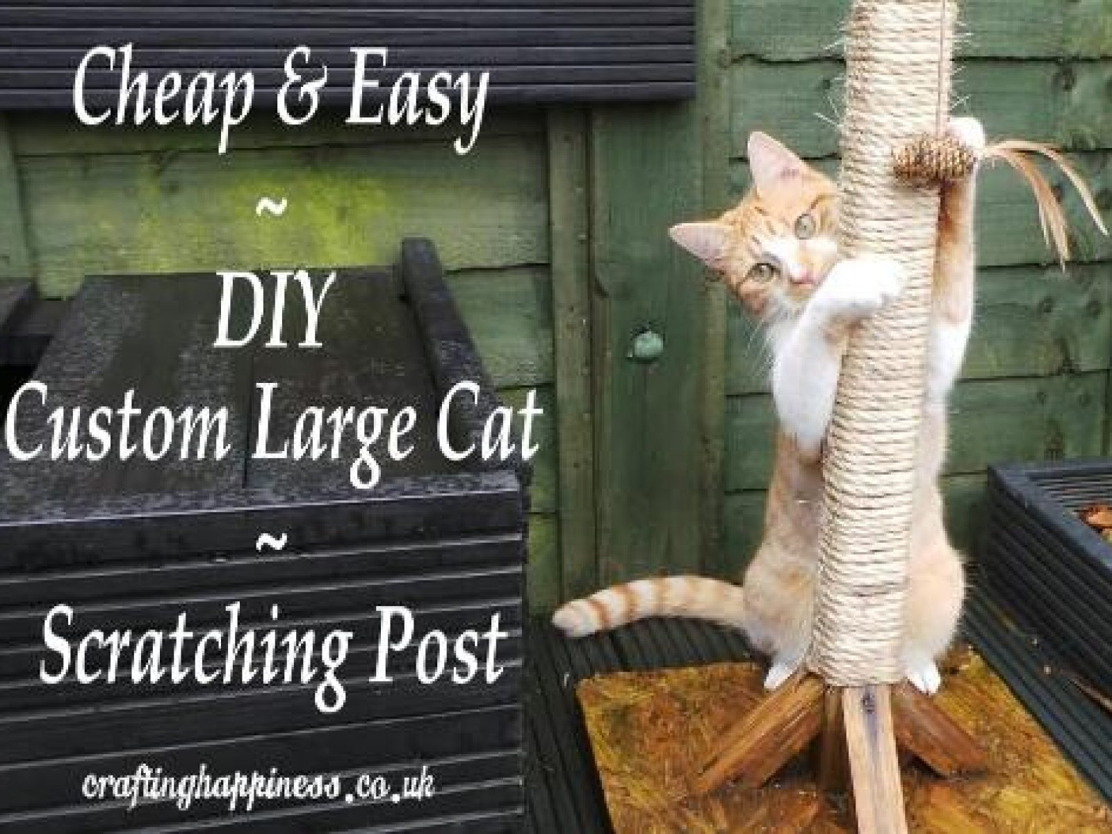 Cheap & Easy DIY Custom Large Cat Scratching Post
