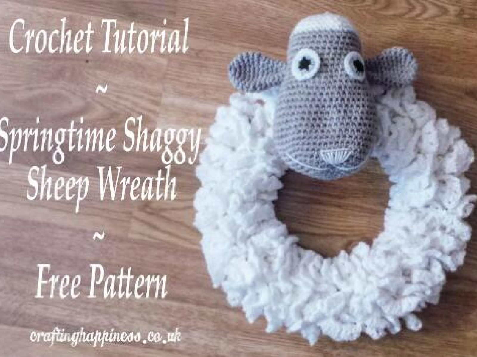 Shaggy Farm Sheep Wreath Free Crochet Pattern
