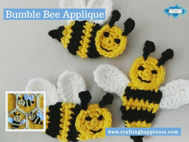 Bumble Bee Applique by Crafting Happiness FACEBOOK POSTER