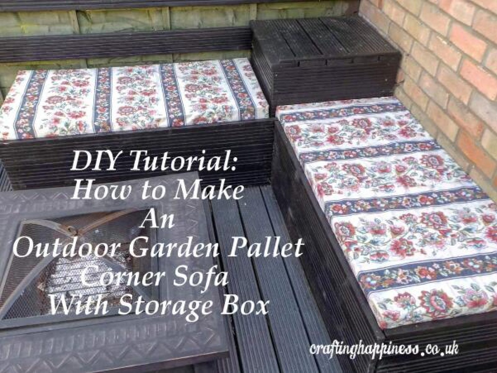 DIY Tutorial: How to Make an Outdoor Garden Pallet Corner Sofa with Storage Box