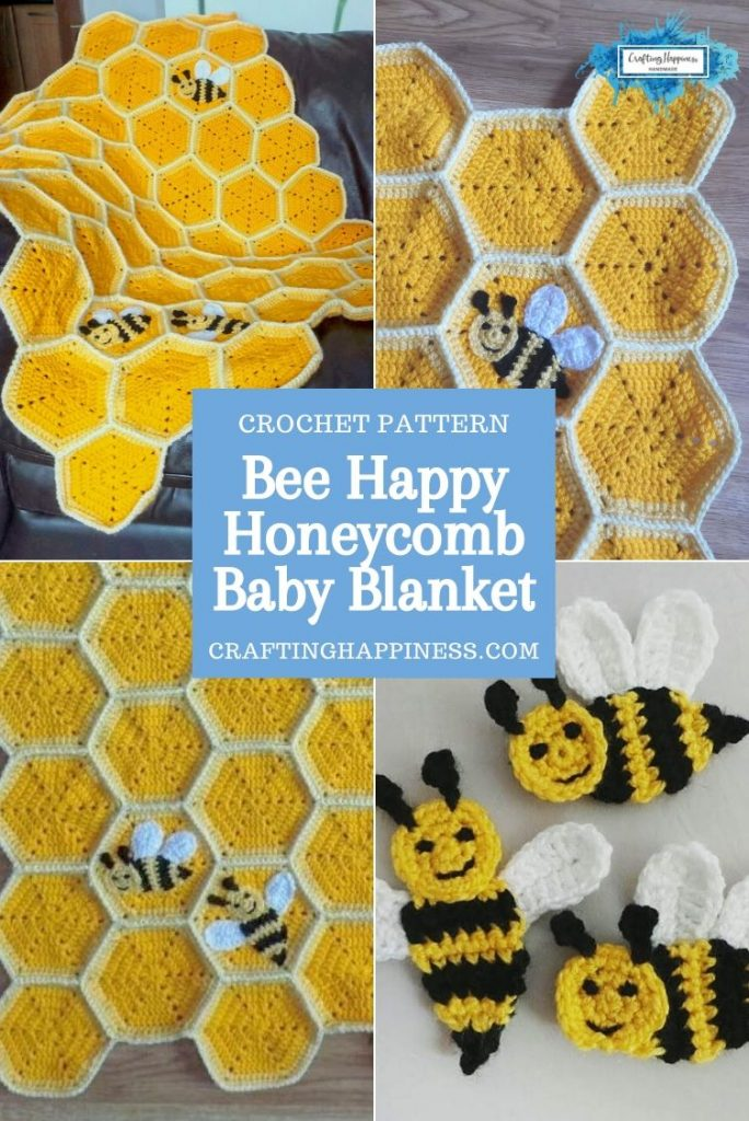 Honeycomb Baby Blanket by Crafting Happiness PINTEREST POSTER 3