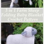 Sheep baby Blanket Crochet Pattern by Crafting Happiness