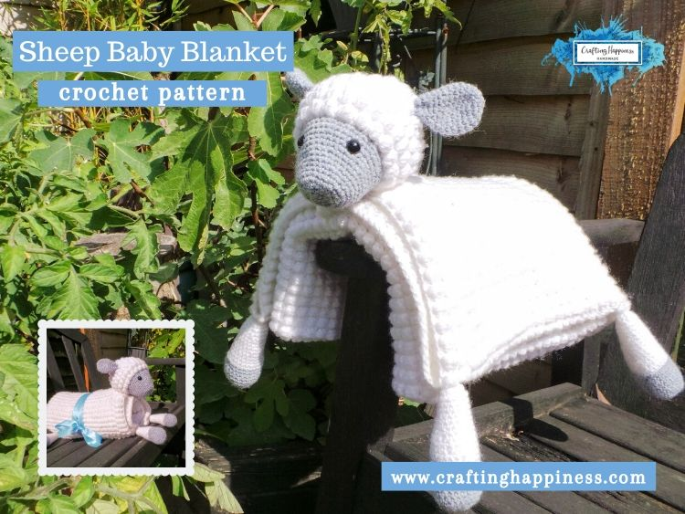 Sheep Baby Blanket by Crafting Happiness FACEBOOK POSTER