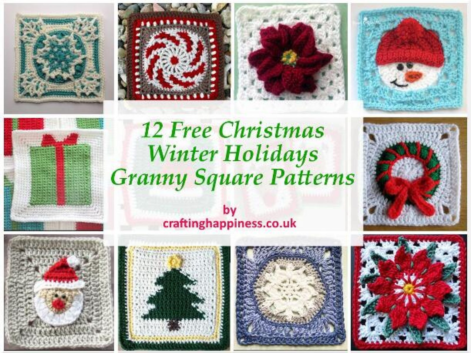 12 Free Christmas Granny Square Patterns