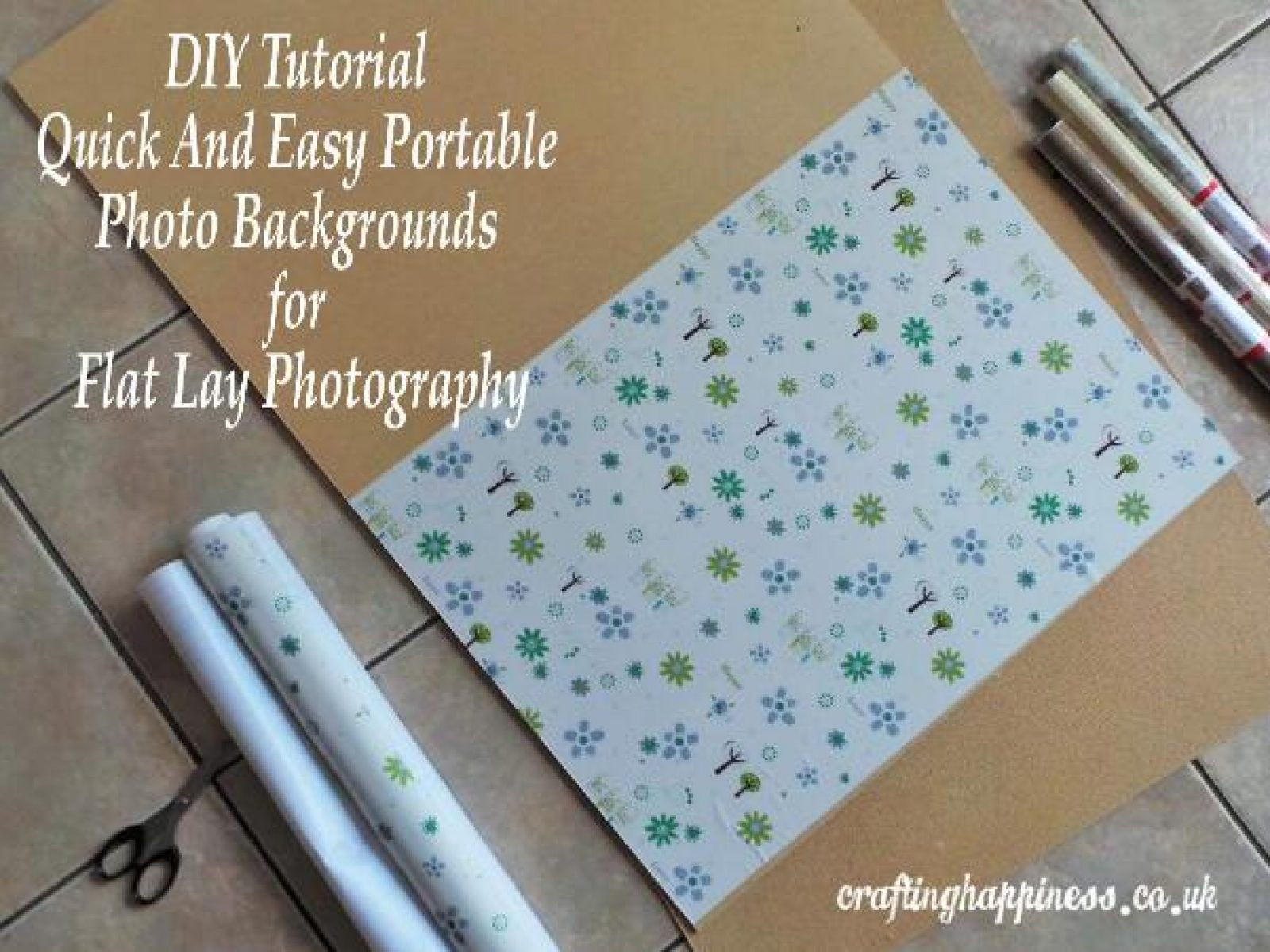DIY Tutorial Quick And Easy Portable Photo Backgrounds for Flat Lay Photography