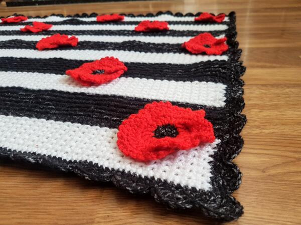 Crochet Poppy Flower Free Pattern by Crafting Happiness