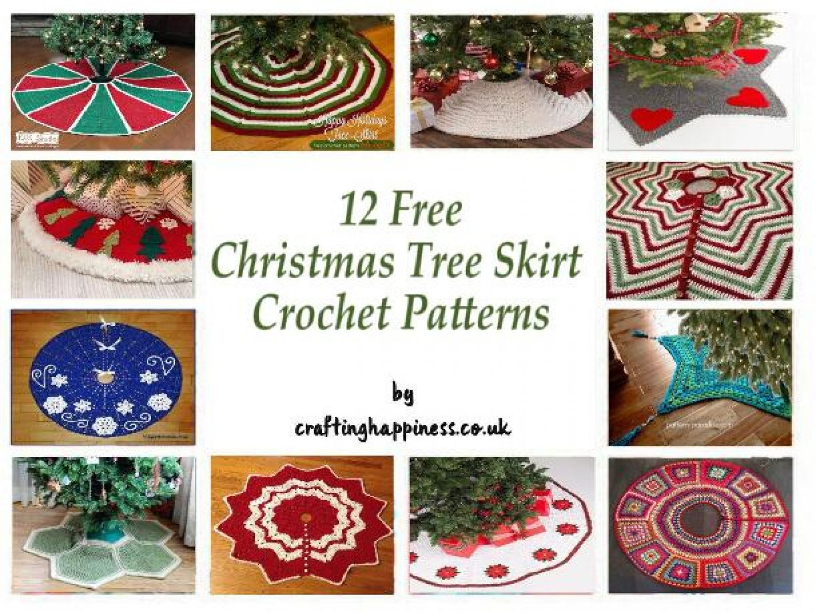 12 Free Christmas Tree Skirt Crochet Patterns