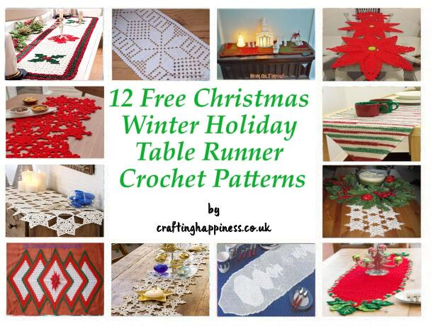 12 Free Christmas Table Runner Crochet Patterns Crafting Happiness