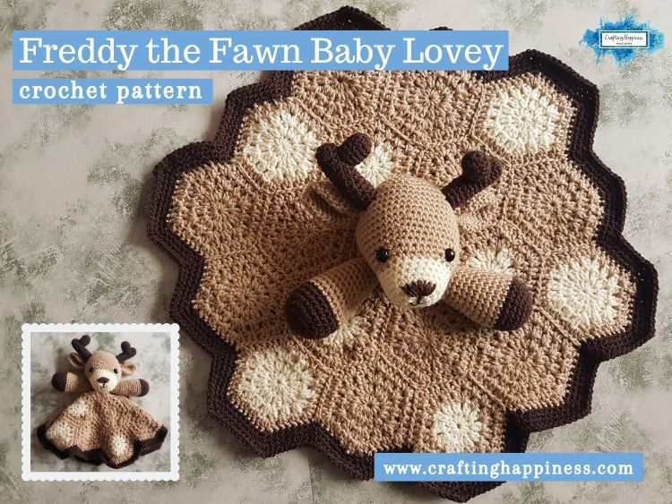 Freddy the Fawn Baby Lovey by Crafting Happiness FACEBOOK POSTER