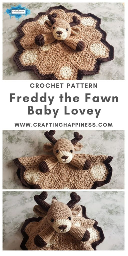 Freddy the Fawn Baby Lovey by Crafting Happiness MAIN PINTEREST POSTER 1