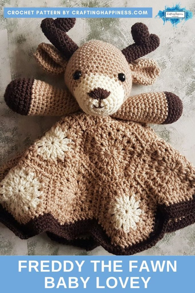 Freddy the Fawn Baby Lovey by Crafting Happiness PINTEREST POSTER 2