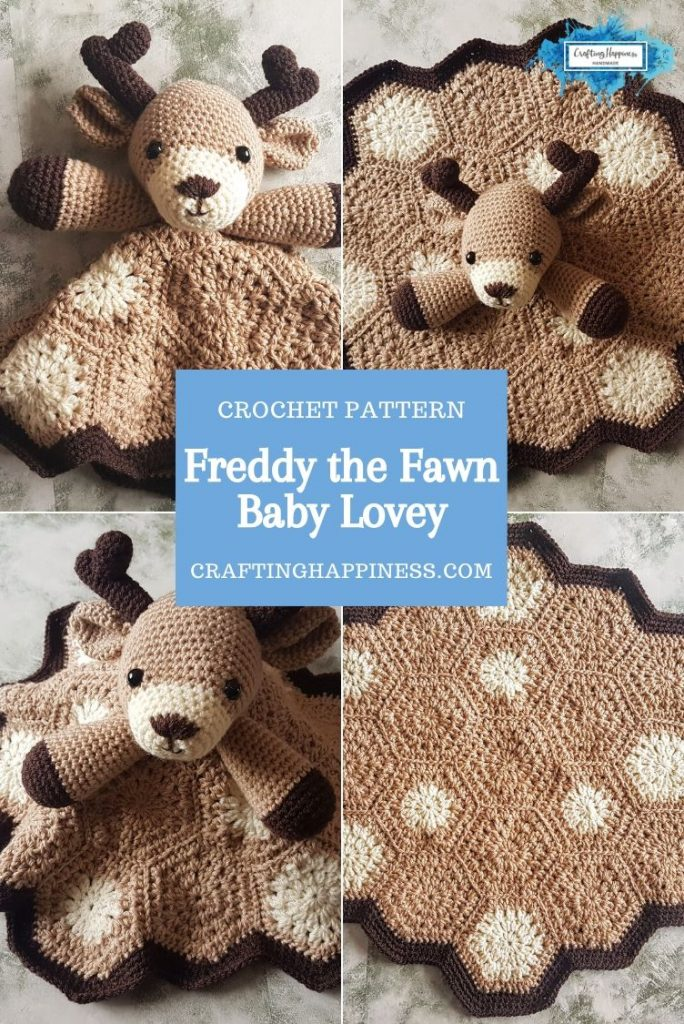 Freddy the Fawn Baby Lovey by Crafting Happiness PINTEREST POSTER 3