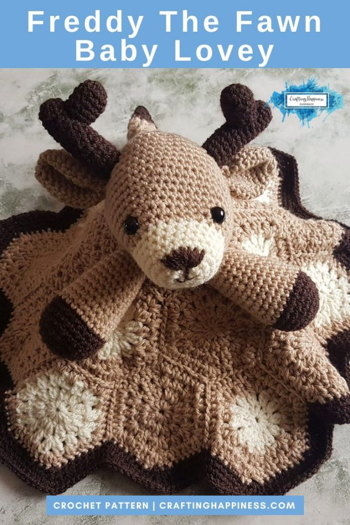 Freddy the Fawn Baby Lovey by Crafting Happiness PINTEREST POSTER 4