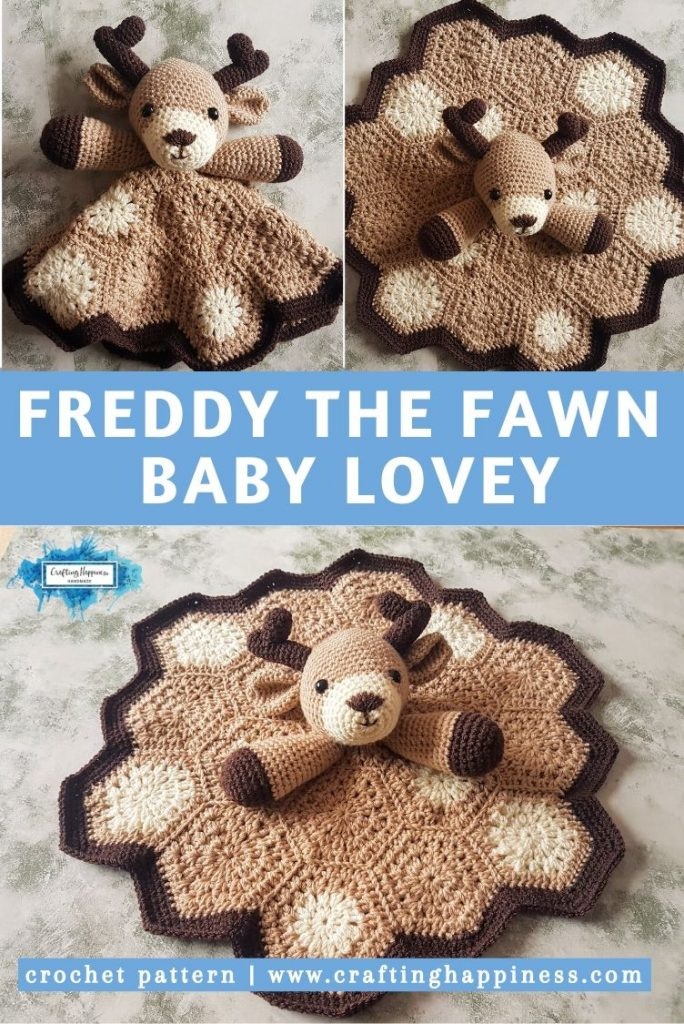 Freddy the Fawn Baby Lovey by Crafting Happiness PINTEREST POSTER 5