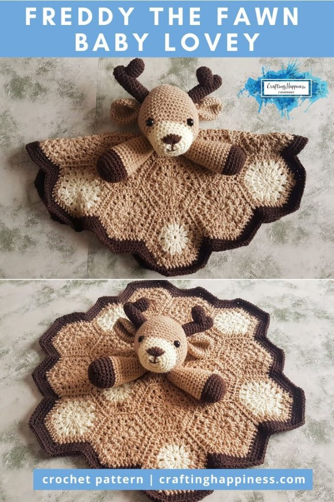 Freddy the Fawn Baby Lovey by Crafting Happiness PINTEREST POSTER 6