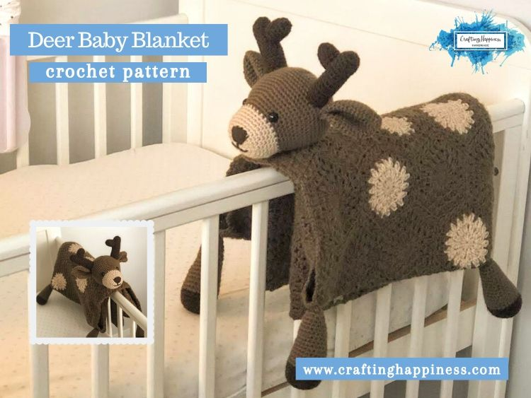 Deer Baby Blanket by Crafting Happiness FACEBOOK POSTER
