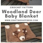 Deer Baby Blanket by Crafting Happiness MAIN PINTEREST POSTER 1