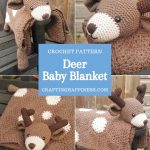 Deer Baby Blanket by Crafting Happiness PINTEREST POSTER 3