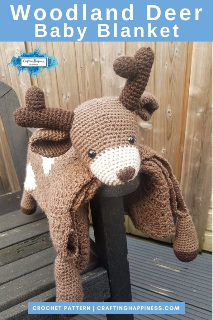 Deer Baby Blanket by Crafting Happiness PINTEREST POSTER 4