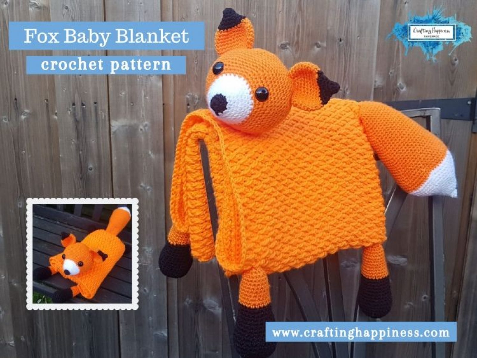 Fox Baby Blanket by Crafting Happiness FACEBOOK POSTER