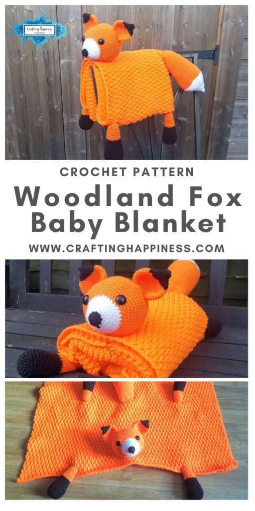 Fox Baby Blanket by Crafting Happiness MAIN PINTEREST POSTER 1