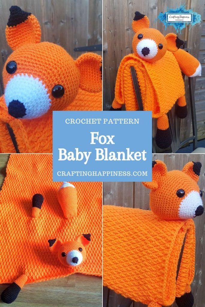 Fox Baby Blanket by Crafting Happiness PINTEREST POSTER 3