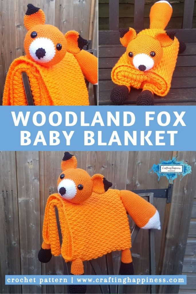 Fox Baby Blanket by Crafting Happiness PINTEREST POSTER 5