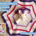Maria the Unicorn Baby Lovey by Crafting Happiness FACEBOOK POSTER