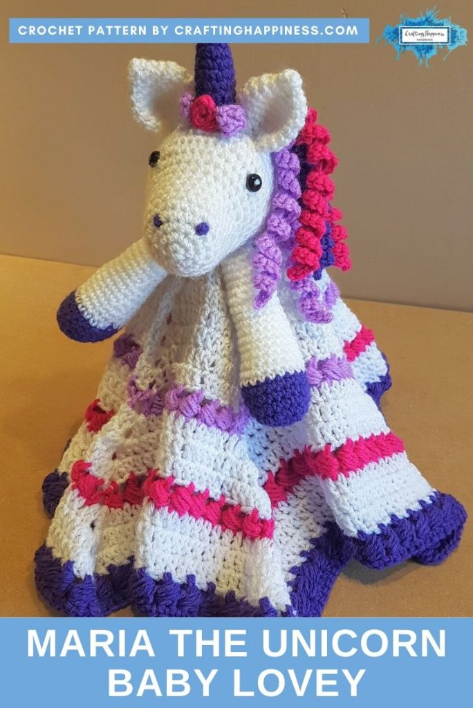 Maria the Unicorn Baby Lovey by Crafting Happiness PINTEREST POSTER 2