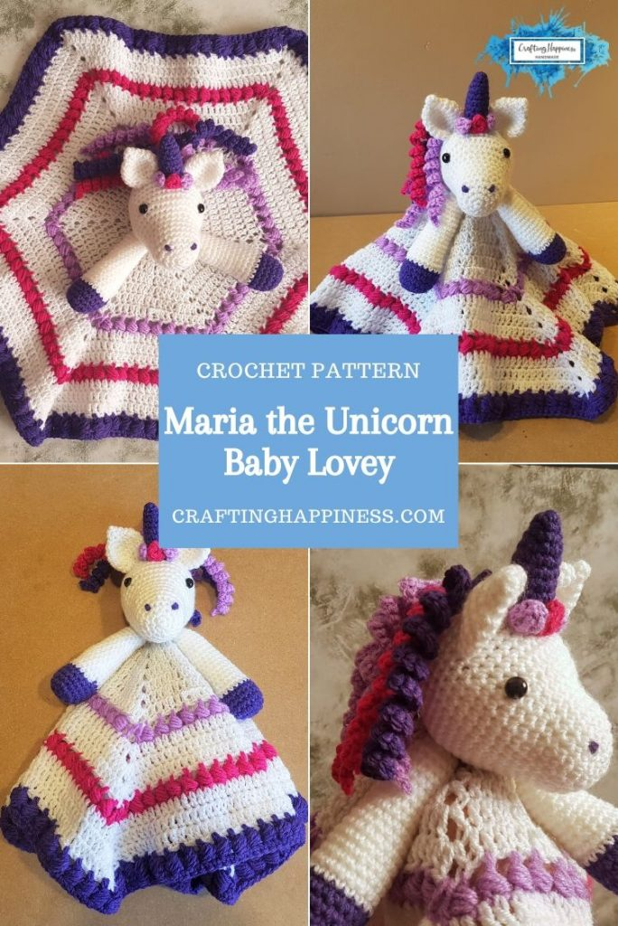 Maria the Unicorn Baby Lovey by Crafting Happiness PINTEREST POSTER 3