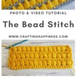 how to crochet the bead stitch (tutorial + video)
