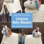 Unicorn Baby Blanket by Crafting Happiness PINTEREST POSTER 3