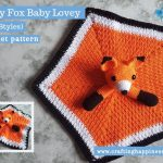 Foxy Fox Baby Lovey by Crafting Happiness FACEBOOK POSTER