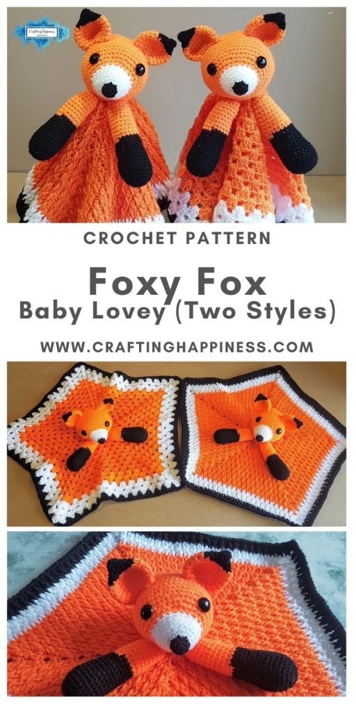 Foxy Fox Baby Lovey by Crafting Happiness MAIN PINTEREST POSTER 1