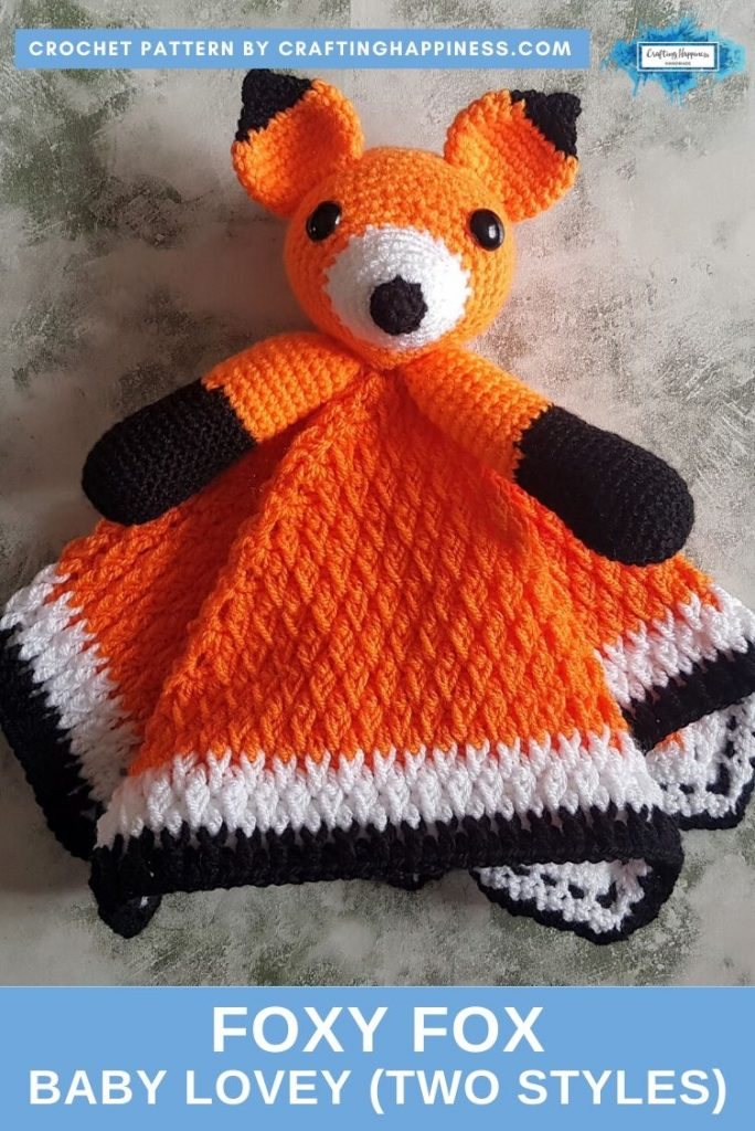 Foxy Fox Baby Lovey by Crafting Happiness PINTEREST POSTER 2