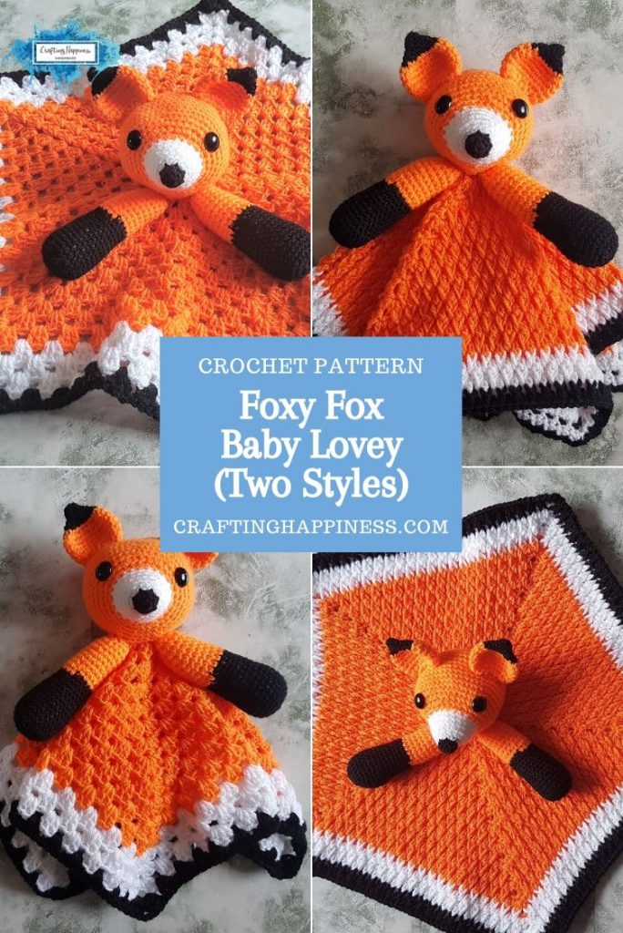 Foxy Fox Baby Lovey by Crafting Happiness PINTEREST POSTER 3