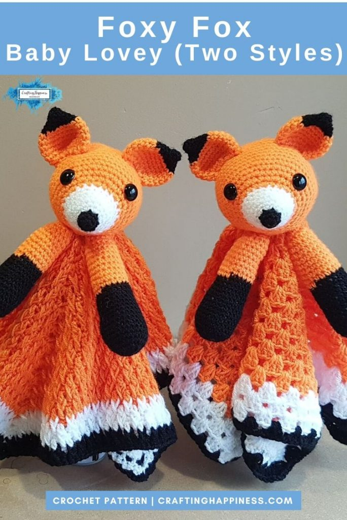 Foxy Fox Baby Lovey by Crafting Happiness PINTEREST POSTER 4
