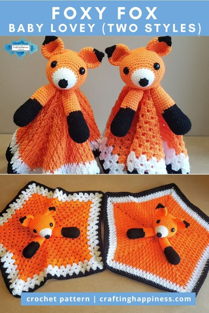 Foxy Fox Baby Lovey by Crafting Happiness PINTEREST POSTER 6