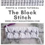 The Block Stitch by Crafting Happiness MAIN PINTEREST POSTER 1
