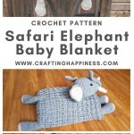 Elephant Baby Blanket by Crafting Happiness MAIN PINTEREST POSTER 1