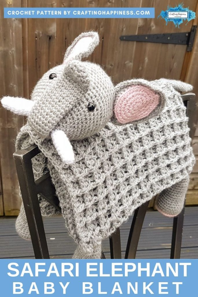 Elephant Baby Blanket by Crafting Happiness PINTEREST POSTER 2