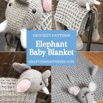 Elephant Baby Blanket by Crafting Happiness PINTEREST POSTER 3