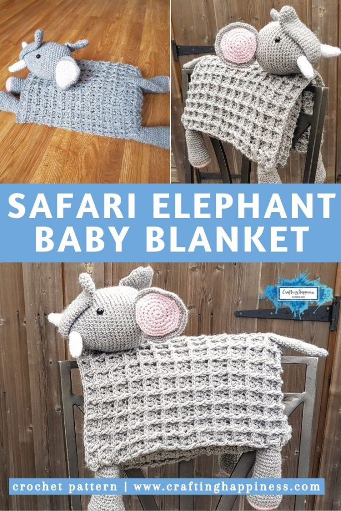 Elephant Baby Blanket by Crafting Happiness PINTEREST POSTER 5