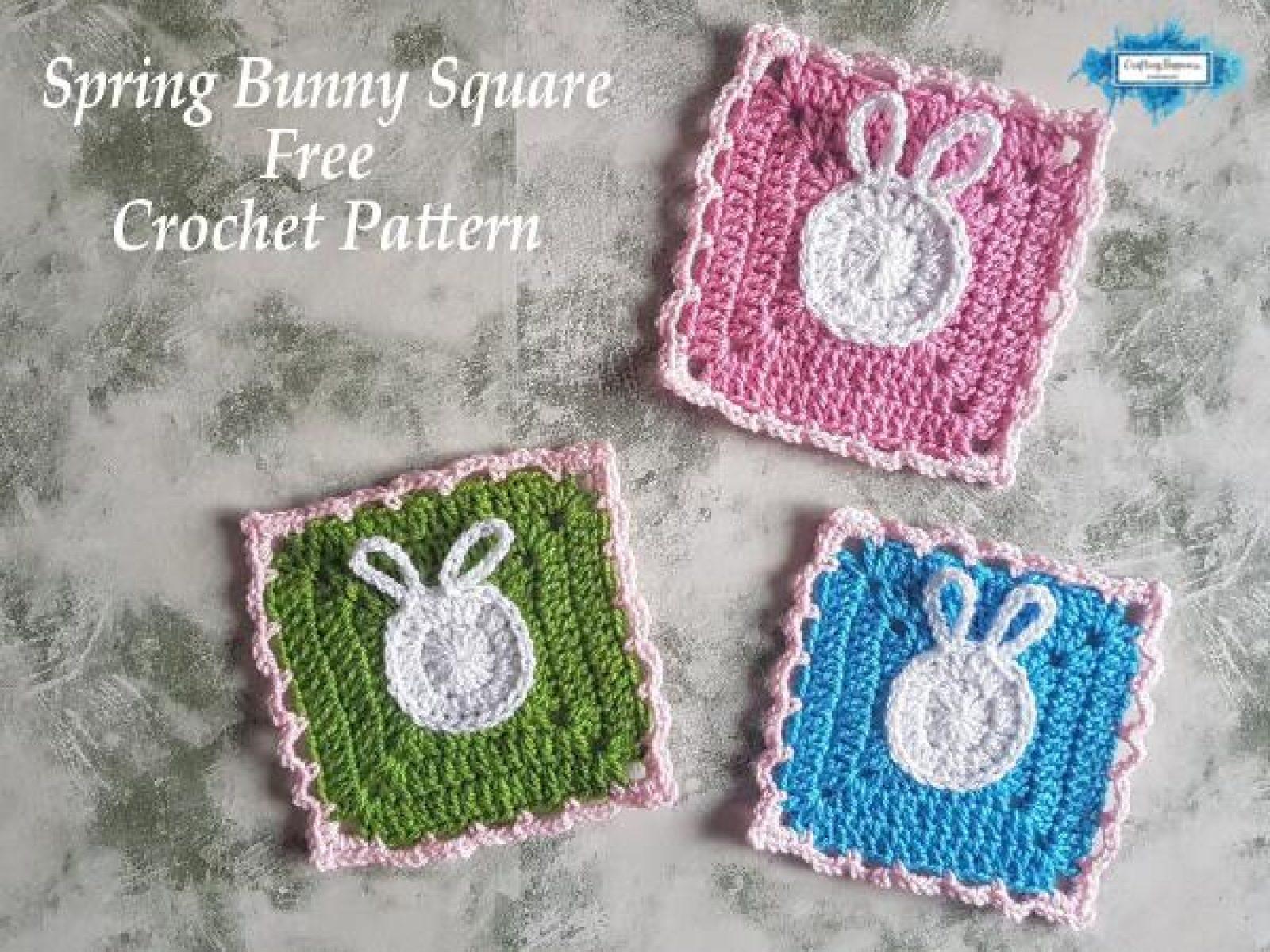 Free Crochet Bunny Granny Square Pattern