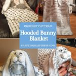 Hooded Bunny Blanket by Crafting Happiness PINTEREST POSTER 3
