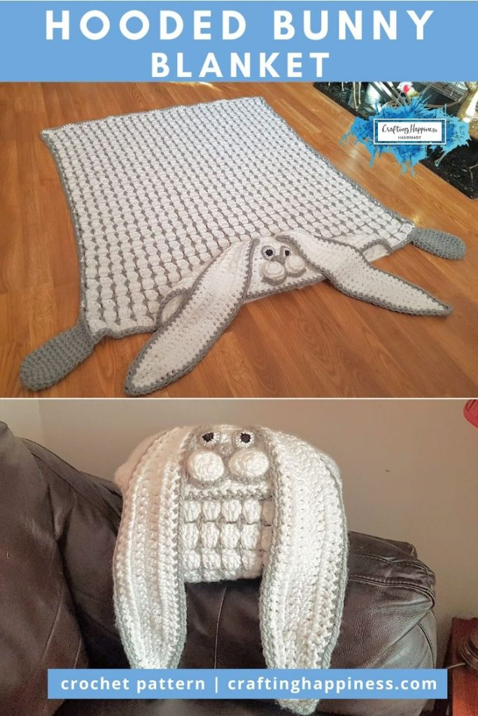 Hooded Bunny Blanket by Crafting Happiness PINTEREST POSTER 6